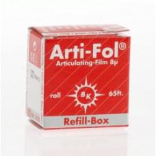 Štítok Arti-Fol 8u obojstranný, červený doplnok BK1025