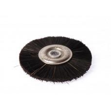 Zwart metalen borstel, diameter 50mm. Polyrapide