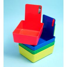 Prothese werk containers 12 stuks (een kleur pakket)