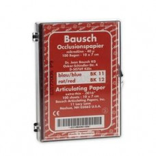 Pauzovací papier Bausch 10x7 cm, červený, BK 12