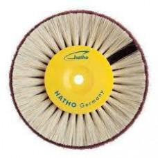 Hatho - borstel 80 mm witte harde haren + niet-geweven stof