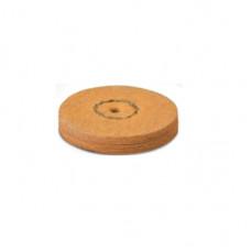Zeemleer met puimsteen 22mm oranje (1 stap) EVE
