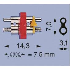 Linker D-14 2-bar schroef