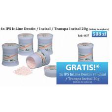 4xIPS InLine Dentine / Incisaal / Transpa Incisaal 20g
