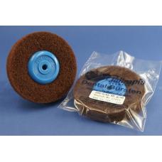Ruwe kunststof borstel, diameter 85mm