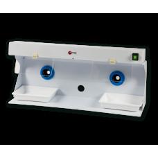 Dubbele hoes voor polijstmachine met verlichting